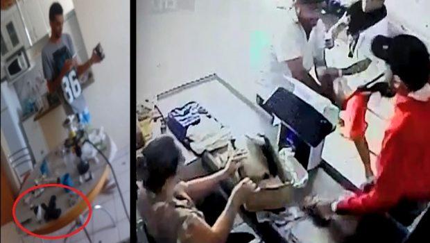 Vazam vídeos de quadrilha que matou vigilante em Caldas Novas