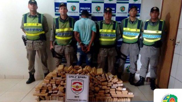 Foragido da justiça é preso com 200 tabletes de maconha, em Chapadão do Céu