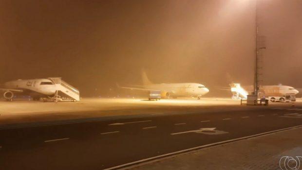 Pista do Aeroporto Santa Genoveva é liberada após quatros horas inoperante devido a forte neblina