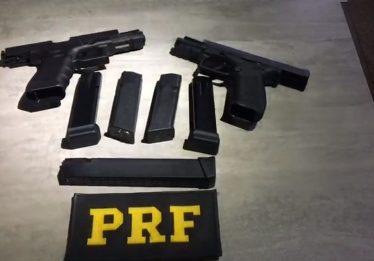Mulher é presa por tráfico internacional de armas, em Itumbiara