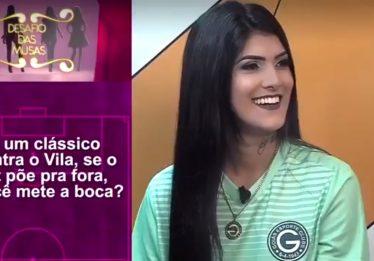 Com perguntas machistas, programa da TV Goiânia ofende torcedora e musa esmeraldina