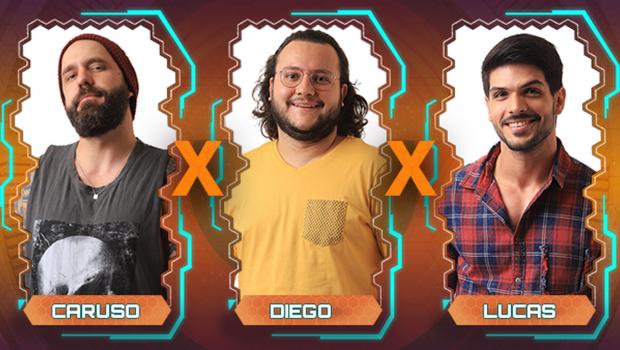 BBB 18: Diego, Caruso e Lucas estão no Paredão Triplo desta semana