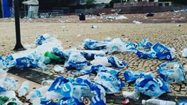 Principais regiões do carnaval em Goiânia produziram oito toneladas de lixo