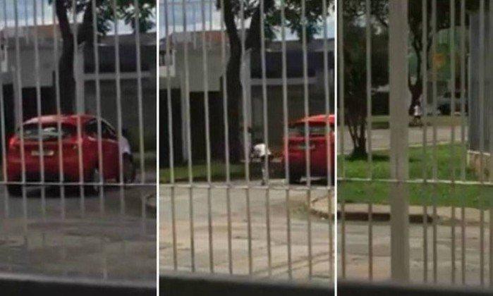 Vídeo chocante: Mãe é flagrada 'abandonando' filha na rua em Curitiba