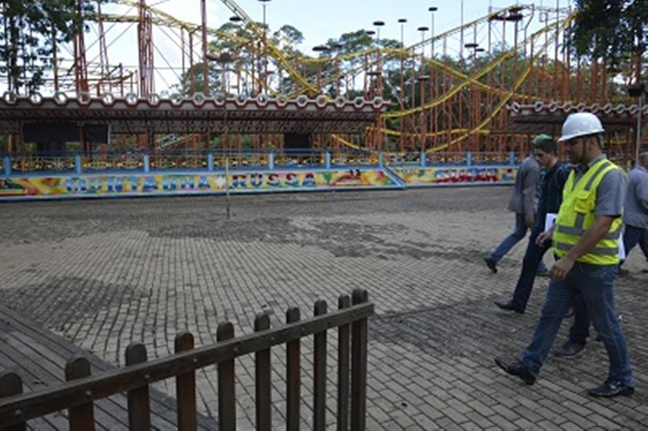 Crea supervisiona reforma do Parque Mutirama
