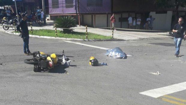 Mototaxista colide contra utilitário e morre em cruzamento no Parque Amazônia