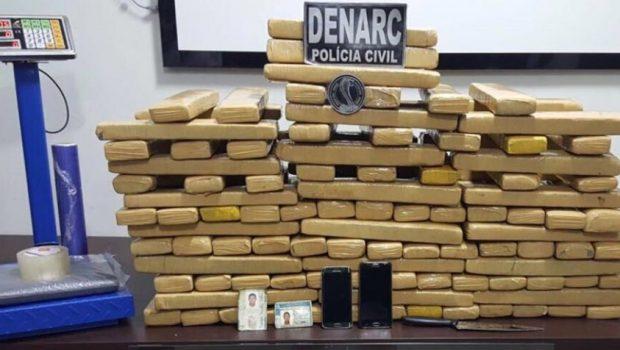 Duas pessoas são presas com mais de 100 quilos de maconha, em Goiânia