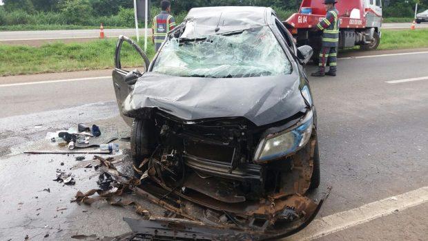 Acidente provocado por motorista embriagado deixa quatro feridos na BR-060, em Goiânia
