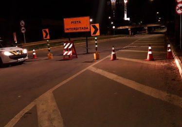 Marginal Botafogo tem novo trecho interditado para obras