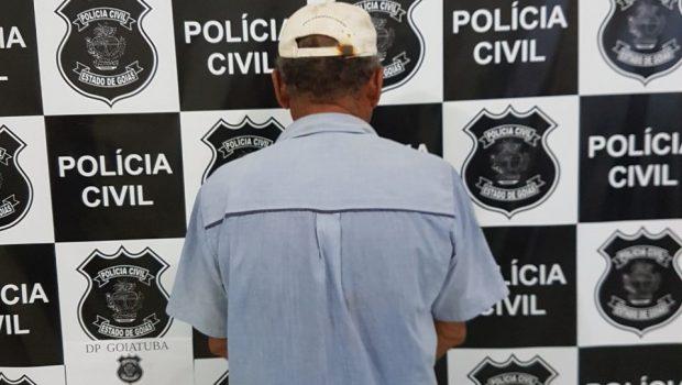 Idoso é preso suspeito de estuprar três enteadas em Goiatuba
