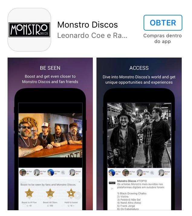 Monstro Discos lança aplicativo com programa de fidelidade