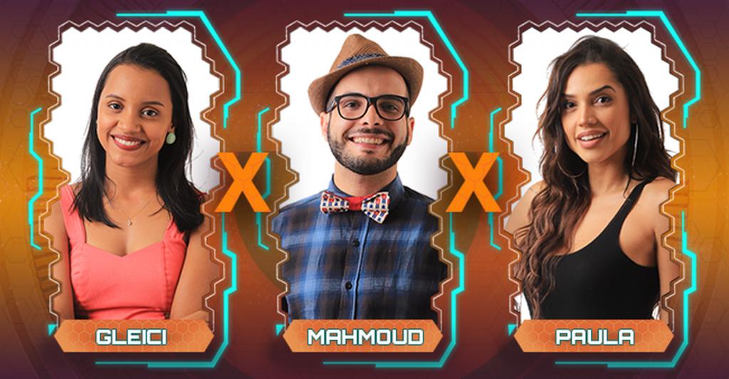 Gleici, Mahmoud e Paula estão no paredão — BBB