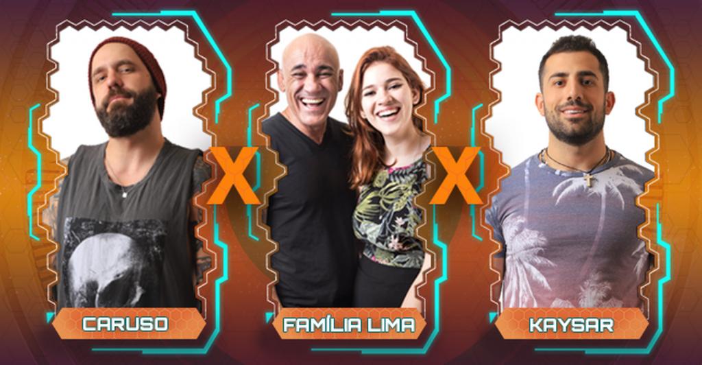 BBB 18: Caruso, Família Lima e Kaysar estão no Paredão desta semana