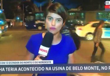"""No Recife, rapaz grita """"Globo golpista"""" durante transmissão ao vivo da emissora"""