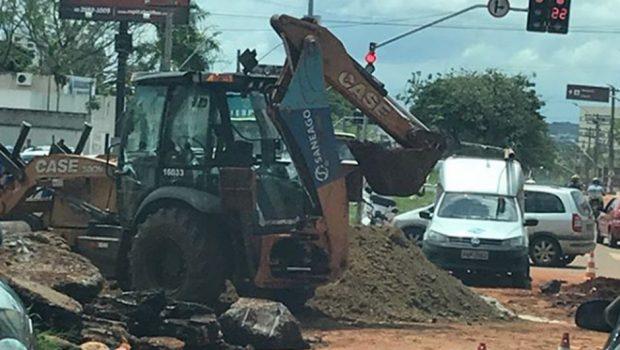 Cruzamento da 5° Avenida com Independência, em Goiânia, é interditado
