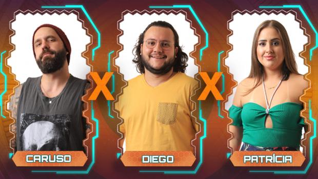 BBB 18: Patrícia, Caruso e Diego estão no Paredão desta semana