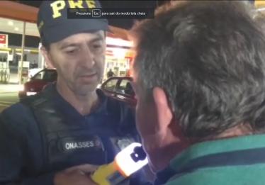 Motoristas são flagrados dirigindo embriagados após show no estacionamento do Serra Dourada