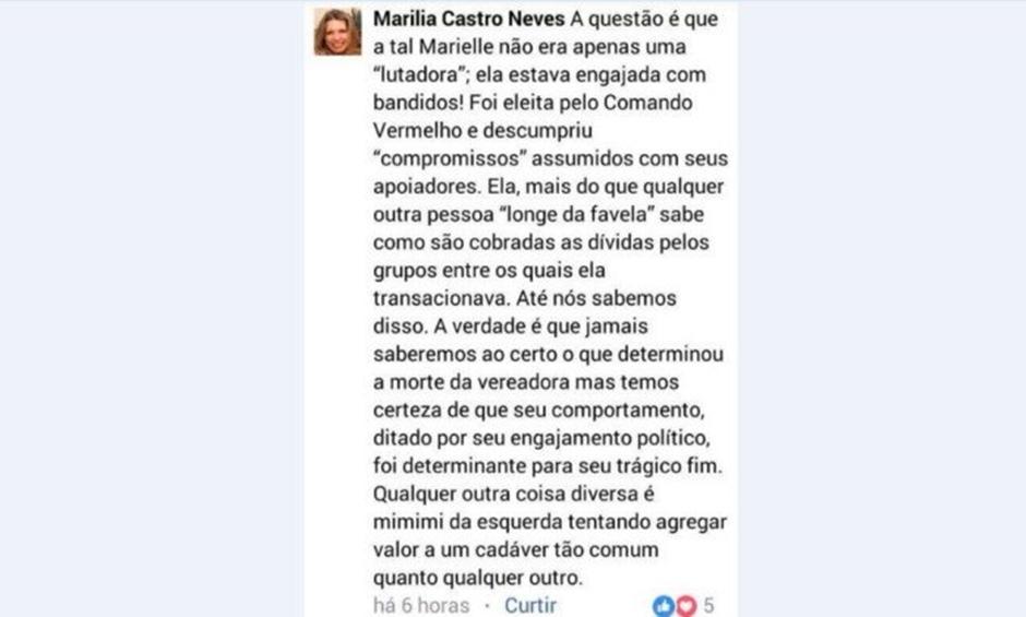 PSOL vai ao CNJ contra desembargadora que acusou Marielle de 'engajamento' com bandidos