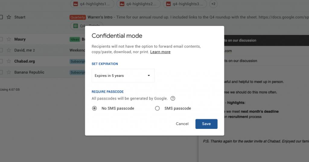 """Gmail vai ganhar modo """"confidencial"""""""