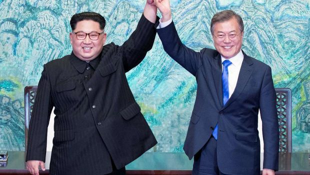 Líderes de Coreia do Norte e do Sul prometem acordo de paz e fim de armas nucleares