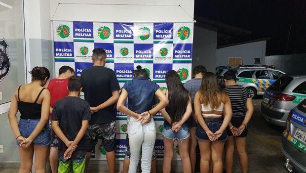 PM encerra festa com drogas, bebidas e menores no Residencial Lucy Pinheiro; 10 foram detidos