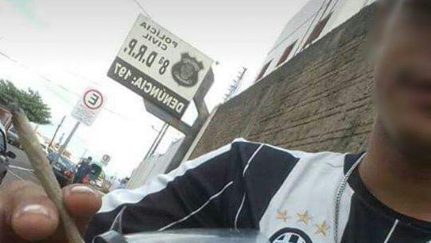 Dois homens são detidos após fumar maconha na porta de delegacia, em Rio Verde