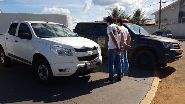 Dois homens suspeitos de trocar veículos do governo do Pará por drogas e armas são presos em Goiás