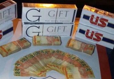 Carga de cigarros contrabandeados do Paraguai avaliada em R$ 2,5 mi é apreendida na BR-060