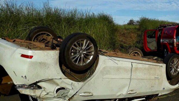 Acidente envolvendo dois carros deixa cinco pessoas feridas na BR-020