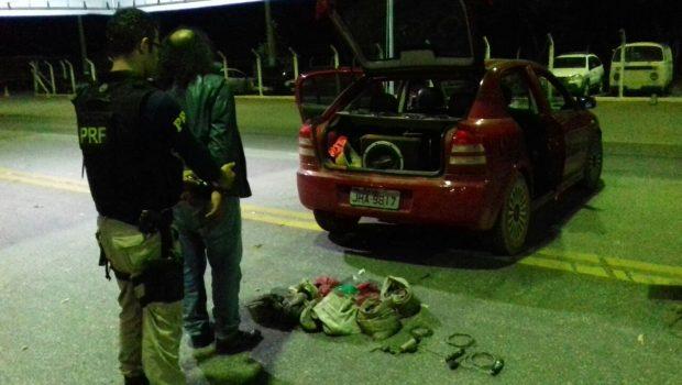 Homem é preso transportando minhocuçus em Porangatu