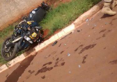 Policial rodoviário federal fica gravemente ferido após sofrer acidente durante perseguição na BR-080