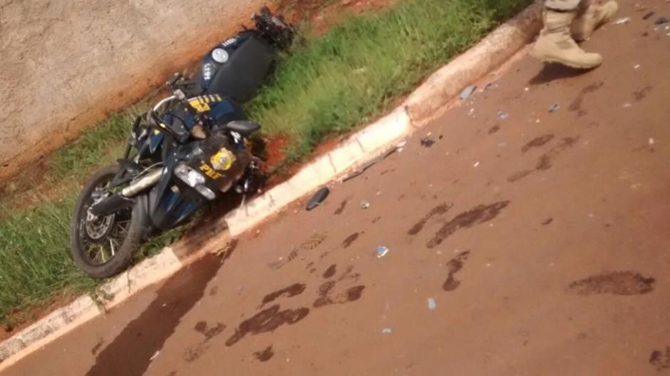 Policial rodoviário fica gravemente ferido após sofrer acidente durante perseguição na BR-080