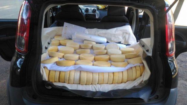Por falta de comprovante, 250 quilos de queijo são apreendidos em Catalão