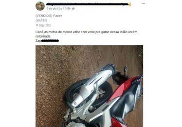 Presa dupla que roubava motos e anunciava em sites de venda
