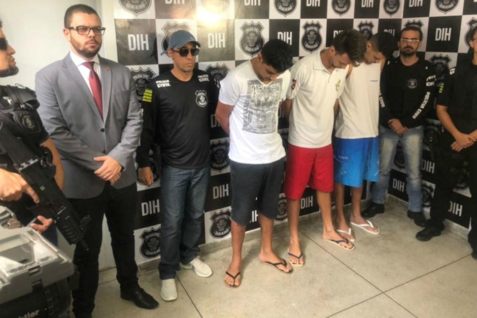 Trio é preso suspeito de espancar homem até a morte em distribuidora de bebidas, em Goiânia