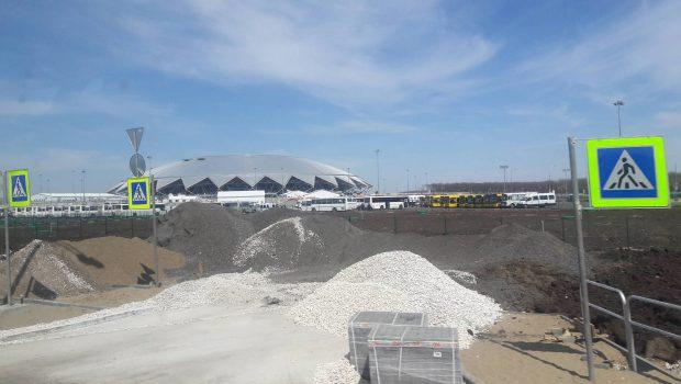 Estádio da Copa ainda é um canteiro de obras
