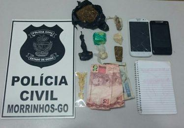 PC prende mulher que traficava entorpecentes com ajuda de adolescente em Morrinhos