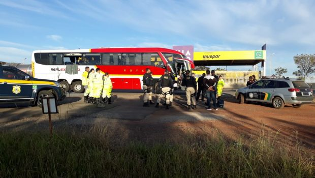 Passageira que ficou ferida durante tentativa de assalto a ônibus está internada em estado gravíssimo