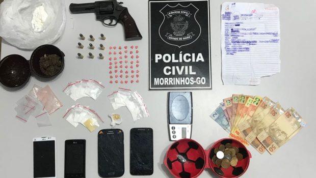 Polícia desarticula quadrilha que roubava comércios e pretendia traficar drogas na pecuária de Morrinhos