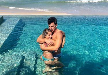 Karina Bacchi e Amaury Nunes ficam noivos