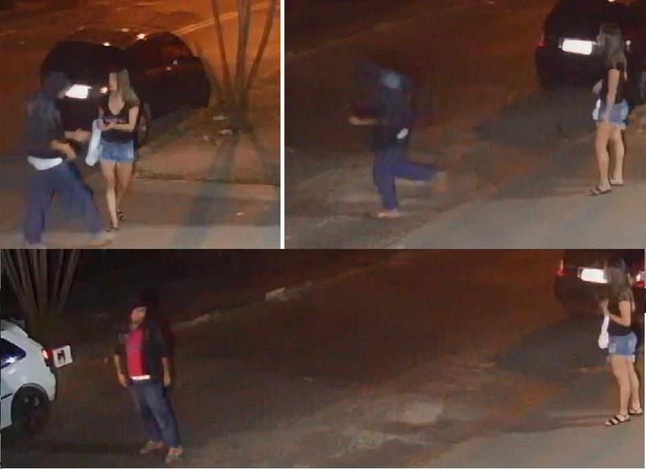 Câmera de segurança grava assalto, em Goiânia