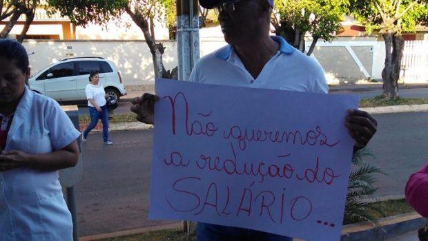 Funcionários da Saúde paralisam as atividades, em Itaberaí