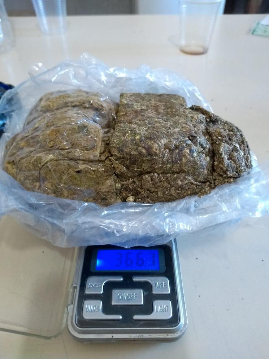 Foram apreendidas mais de 366 gramas de maconha (Foto: DGAP)