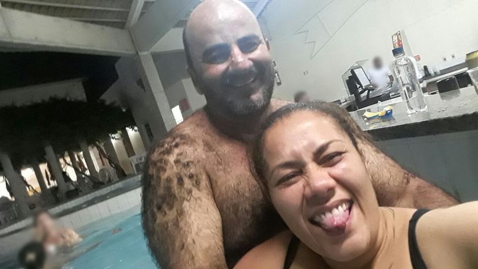 Os dois viveram dois anos um namoro à distância, segundo a família de Denise, antes de a paulista se mudar para Goiânia (Foto: Arquivo Pessoal)