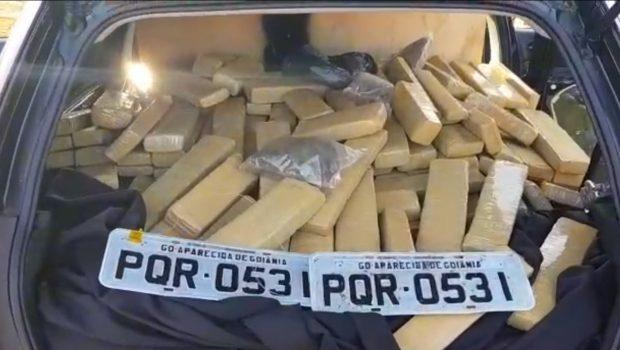 Dois são presos e 800kg de maconha apreendidos durante operação contra o tráfico em Jataí