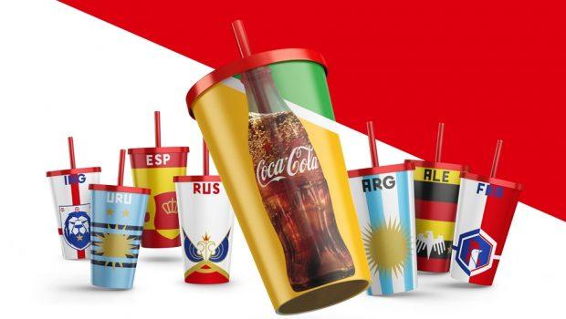 Coca-Cola apresenta copos colecionáveis para a Copa do Mundo da Fifa 2018