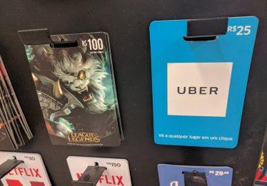 Uber agora permite uso de crédito pré-pago