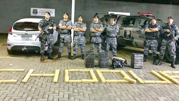 Polícia descobre 180 quilos de maconha dentro de carro guinchado, em Goiânia