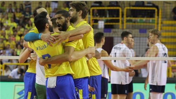 Brasil vence Estados Unidos no tie-break no Goiânia Arena