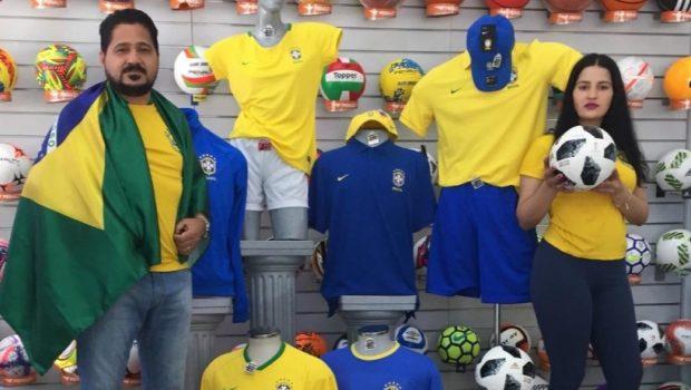 Desânimo com política impacta vendas de itens para a Copa do Mundo em Goiânia